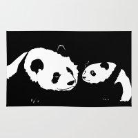 pandas Area & Throw Rugs featuring Pandas by Elena Medero