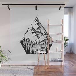 Mountain Camping Wall Mural