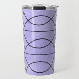 Metalwork and Lavender Travel Mug