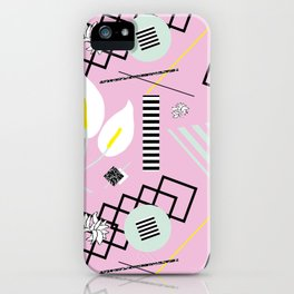 80's Calla Lily Floral iPhone Case
