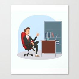 Big Boss - National Boss Day 3 Canvas Print