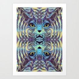 Catnip Psych (Electric Catnip) Art Print