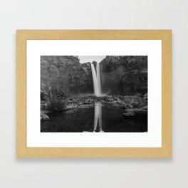 Reflecting Falls Framed Art Print