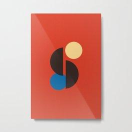 Mid Century Geometric Wall Art, Simple Art Print Metal Print