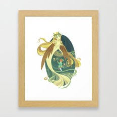Windy Framed Art Print