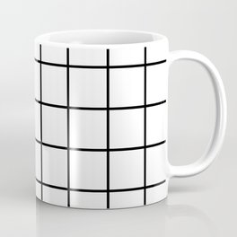 Black and White Grid Coffee Mug