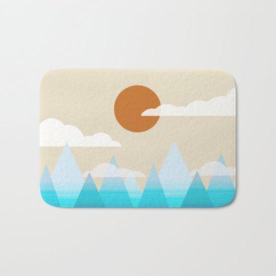 Sun, Clouds and Mountains Bath Mat