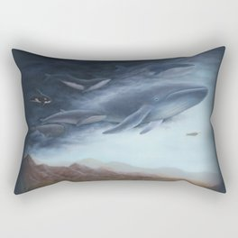 Flying Whales (with some digital editing) Rectangular Pillow