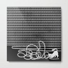 Unravel Metal Print