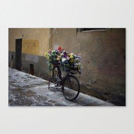 Fiets. Florence. Canvas Print