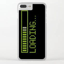 Green Loading Time Bar Clear iPhone Case