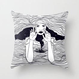 soul waves Throw Pillow