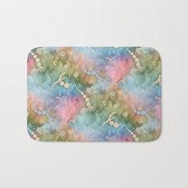 Satin Rainbow Pastel Floral Bath Mat