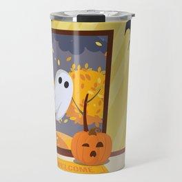 Trick or Treater Halloween Illustration Travel Mug