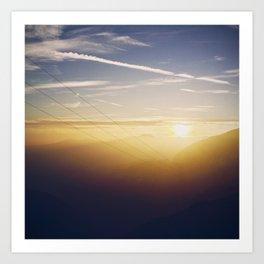 Sunset & Wires Art Print