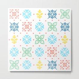 Colored tile Metal Print