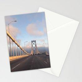 San Francisco Bay Bridge by sunset Stationery Cards