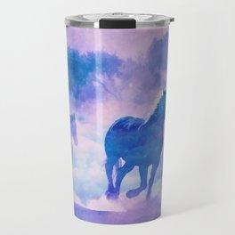 Horses run Travel Mug