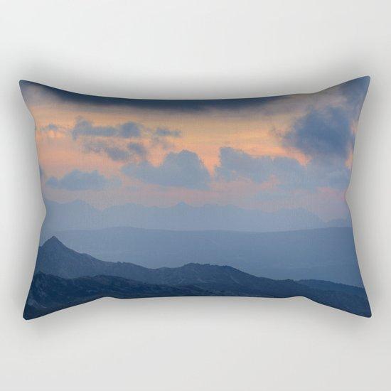 """""""Sunset at mountains"""" Mountain light Rectangular Pillow"""