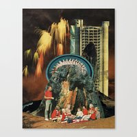 led zeppelin Canvas Prints featuring led by messias