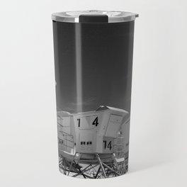 BEACH - California Beach Towers - Monochrome Travel Mug