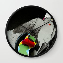 Dead dove Wall Clock