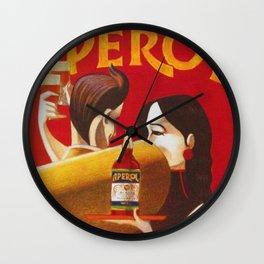 Aperol Alcohol Aperitif Spritz Vintage Advertising Poster Wall Clock