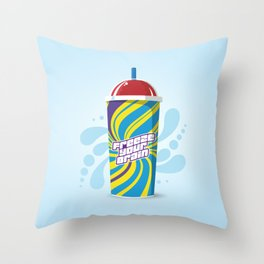 Freeze Your Brain Slurpee - Heathers the Musical Throw Pillow
