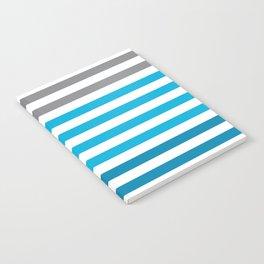 Stripes Gradient - Blue Notebook