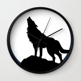 Wolf howling! Wall Clock