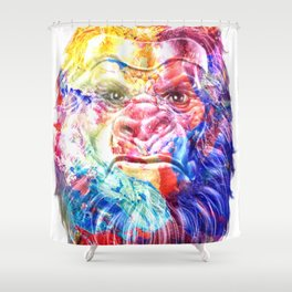 Artsy Yeti Shower Curtain