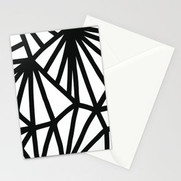 Modern Black and White geometric pattern #abstractart #decor Stationery Cards