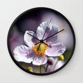 Pretty in White and Purple Wall Clock