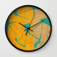 titan Wall Clocks featuring Titan - Hyperion by Fernando Vieira