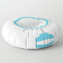 Bike Globe Floor Pillow