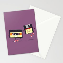 Floppy disk and cassette tape Stationery Cards