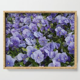 Pansy flower Serving Tray