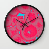 fruit Wall Clocks featuring Fruit by Serena Gailey