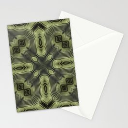 Olive Green and Black  Stationery Cards