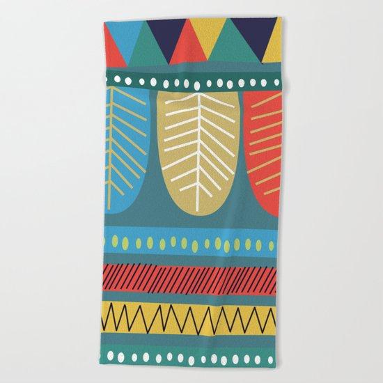 Ethnic Pattern Beach Towel