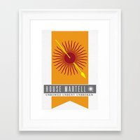 martell Framed Art Prints featuring House Martell Sigil by P3RF3KT