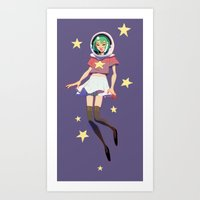 space alien Art Print