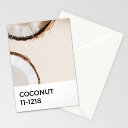 Coconut Summer Beach Beige Pantone Chip Stationery Cards
