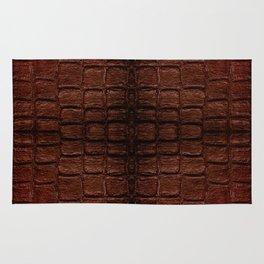Dark brown snake leather cloth imitation Rug