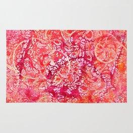 Abundance, Abstract Art Circles Grunge Rug