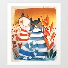 FRANCESCO&CAT Art Print