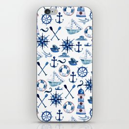 Nautical Watercolor iPhone Skin