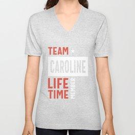 Team Caroline Lifetime Member Unisex V-Neck