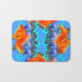 SURREAL GOLD FISH & BLUE BUTTERFLIES ARTWORK Bath Mat