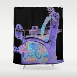 Machine ten Shower Curtain